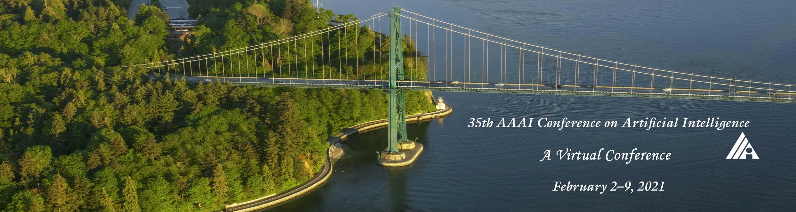 View of Lions Gate Bridge with sea and forest, Vancouver, British Columbia, Canada.